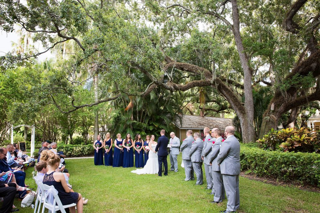 With over two acres of mature stately oak trees which shade the lawn on the banks of the Caloosahatchee River, the Burroughs Home & Gardens, Complete Wedding Photography Fort Myers Wedding